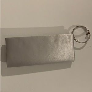 Silver and Diamond Clutch, Gently used